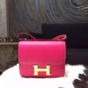 Hermes Constance 18cm Epsom Calfskin Original Leather Handstitched Gold Hardware, Rose Tyrien E5 RS17175