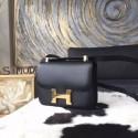 Hermes Constance 23cm Epsom Calfskin Original Leather Handstitched Gold Hardware, Noir RS09153