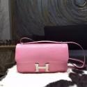Hermes Constance Elan 23cm Lizard Skin Palladium Hardware Handstitched, Pink 5P RS20276