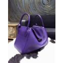 Hermes Lindy 26cm/30cm Taurillon Clemence Bag Hand Stitched Palladium Hardware, Iris 9K RS15517