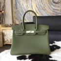 High Quality Hermes Birkin 30cm Togo Calfskin Bag Handstitched Palladium Hardware, Canopee V6 RS11069