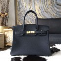 High Quality Replica Hermes Birkin 30cm Togo Calfskin Bag Handstitched Gold Hardware, Plomb CK76 RS03094