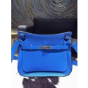 Imitation Hermes Jypsiere 28cm Gypsy Bag Bleu Hydra T7 Togo Palladium RS19220