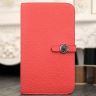Copy Hermes Dogon Combine Wallet In Rose Lipstick Leather RS14515