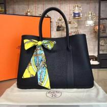 Hermes Garden Party 36cm Togo Calfskin Leather Palladium Hardware High Quality, Black RS20479