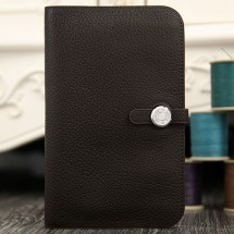 Hermes Dogon Combine Wallet In Chocolate Leather RS15742