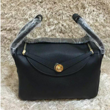 Best Quality Hermes Bi-Color Lindy 30cm Taurillon Clemence Leather Palladium Hardware High Quality, Noir, Fuschia Pink 5J RS06510