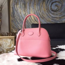 Cheap Knockoff Hermes Bolide 27cm Epsom Calfskin Leather Bag Palladium Hardware Handstitched, Rose Confetti 1Q RS02401