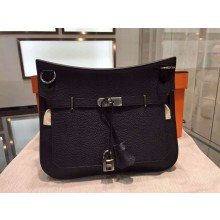 Copy Cheap Hermes Jypsiere Togo Leather Palladium Hardware High Quality, Noir RS09034