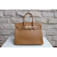 Hermes Birkin 40cm Togo Calfskin Bag Handstitched Gold Hardware, Brown 4G RS19628