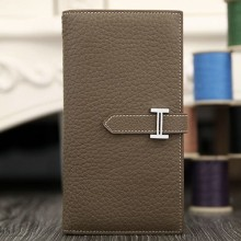 Hermes Bearn Gusset Wallet In Etoupe Leather RS14619