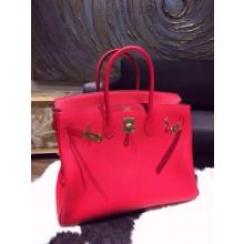 Hermes Birkin 35cm Togo Hand Stitched Bag Gold Hardware, Rouge Casaque Q5 RS12100