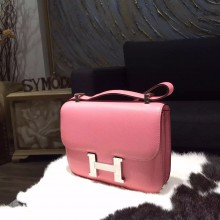 Hermes Constance 23cm Epsom Calfskin Original Leather Handstitched Palladium Hardware, Rose Confetti 1Q RS04052