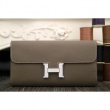 Hermes Constance Wallet In Etoupe Epsom Leather RS18770