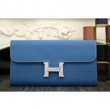 Hermes Constance Wallet In Jean Blue Epsom Leather RS05867