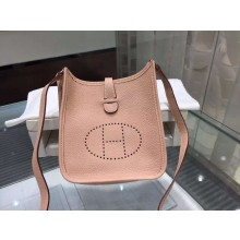 Hermes Evelyne Mini TPM Taurillon Clemence Palladium Hardware Handstitched High Quality, Gris Tourterelle CK81 RS17800