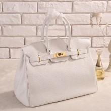 Hermes Horseshoe Birkin 25cm Cowhide Leather Bag Handstitched Gold Hardware, Rouge Casaque Q5/white Bag RS19267