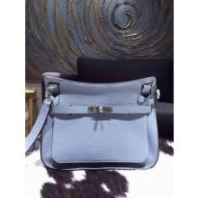 Hermes Jypsiere 28cm Gypsy Bag Bleu Lin J7 Togo Palladium RS12446
