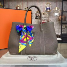 High Quality Hermes Garden Party 36cm Togo Calfskin Leather Palladium Hardware High Quality, Etoupe RS03314