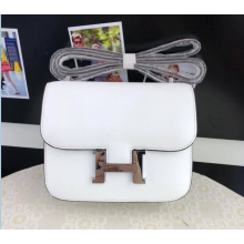 Quality Hermes Constance 23cm Epsom Calfskin Original Leather Handstitched, Blanc RS19181