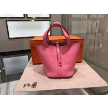 Quality Hermes Picotin Lock Taurillon Clemence Leather Palladium Hardware High Quality, Pink 5P RS05089