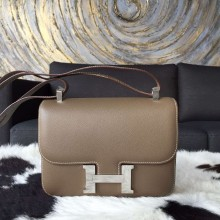 Top Hermes Constance 23cm Epsom Calfskin Original Leather Handstitched, Etoupe RS19769