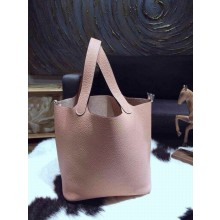 Top Hermes Picotin Lock Bag 22cm Taurillon Clemence Palladium Hardware Hand Stitched, Beige 1F RS13257