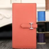 Hermes Bearn Gusset Wallet In Rose Lipstick Epsom Leather RS02142