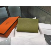 Hermes Calvi Card Holder Case Handstitched Taurillon Clemence Calfskin, Canopee V6 RS09392