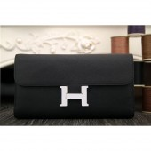 Hermes Constance Wallet In Black Epsom Leather RS06095