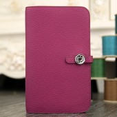 Hermes Dogon Combine Wallet In Purple Leather RS17601