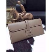 Hermes Jige Elan Clutch 29cm Epsom Calfskin Handstitched, Etoupe RS13425