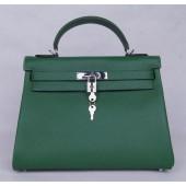 Hermes Kelly 28cm Togo Calfskin Original Leather Bag Handstitched Palladium Hardware, Canopee CKV6 RS00221