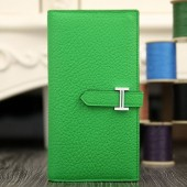 Imitation Hermes Bearn Gusset Wallet In Bamboo Leather RS03577