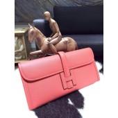Imitation Hermes Jige Elan Clutch 29cm Epsom Calfskin Handstitched, Flamingo I5 RS06795