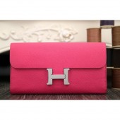 Luxury Hermes Constance Wallet In Peach Epsom Leather RS05977