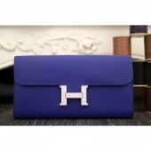 Replica Hermes Constance Wallet In Electric Blue Epsom Leather RS18052