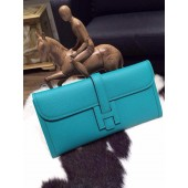 Replica Luxury Hermes Jige Elan Clutch 29cm Epsom Calfskin Handstitched, Blue Paon 7F RS09805
